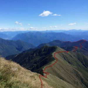 Monte Zeda, Blick zum Spalavera